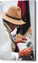 Gaucho Reading Acrylic Print