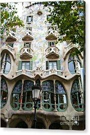 Gaudi Architecture Acrylic Print by Laura Kayon