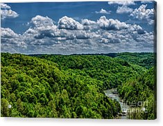 Gauley River Canyon And Clouds Acrylic Print