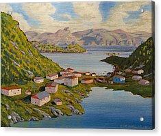 Gaultois Village Newfoundland Acrylic Print