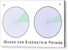 Gauss And Eisenstein Primes Acrylic Print by Martin Weissman