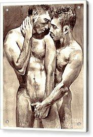 Gay Love Watercolor Acrylic Print