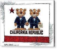 Gay Marriage In California Acrylic Print