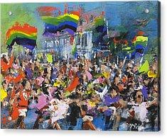 Gay Parade Acrylic Print by Neil McBride