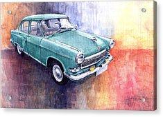 Gaz 21 Volga Acrylic Print by Yuriy  Shevchuk
