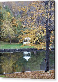 Gazebo Reflection Acrylic Print by Faith Harron Boudreau