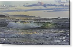 Gazing At The Ocean Surf Acrylic Print