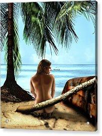 Gazing At The Ocean Acrylic Print