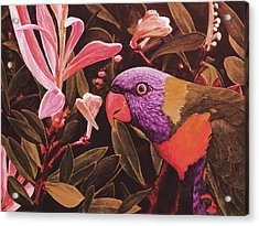 G'day Mate - Crimson Acrylic Print by Julie Turner