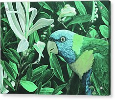 G'day Mate - Jade Acrylic Print by Julie Turner