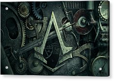 Gear Head Steampunk  Acrylic Print by Movie Poster Prints