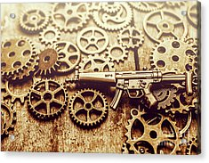 Gear Of Weapon Design Acrylic Print by Jorgo Photography - Wall Art Gallery