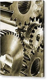 Gears And Cogwheels In Antique Look Acrylic Print