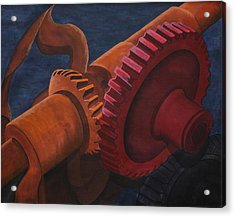 Gears And Shaft Acrylic Print