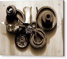 Gears IIi Acrylic Print by Jan Brieger-Scranton