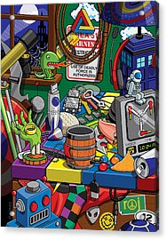 Acrylic Print featuring the digital art Geek Chic by Ron Magnes
