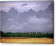 Geese, Grand Tetons Acrylic Print