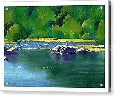 Geese On The Rappahannock Acrylic Print