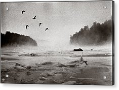 Acrylic Print featuring the photograph Geese Over Great Bay by Wayne King