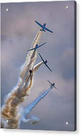 Acrylic Print featuring the photograph Geico Skytypers Tree Of Smoke by Rick Berk