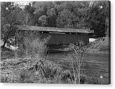 Geiger Covered Bridge B/w Acrylic Print