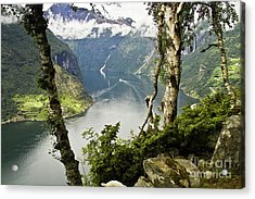 Geiranger Fjord Acrylic Print by Heiko Koehrer-Wagner