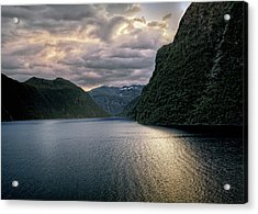 Acrylic Print featuring the photograph Geiranger Fjord by Jim Hill