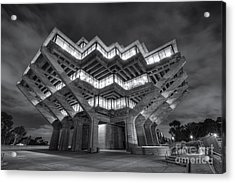 Geisel Library In Black And White Acrylic Print