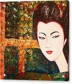 Geisha Acrylic Print by Anastasis  Anastasi
