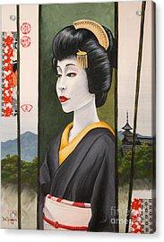 Geisha Acrylic Print by Dee Youmans-Miller