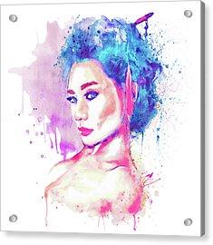 Geisha Girl Acrylic Print by Marian Voicu