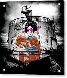Acrylic Print featuring the photograph Geisha Graffiti by Adrian Evans
