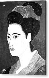 Geisha In Kyoto By Taikan Acrylic Print
