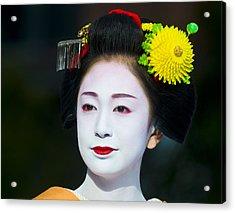Geisha  Acrylic Print by Kobby Dagan