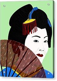 Geisha Acrylic Print by Melissa Stinson-Borg