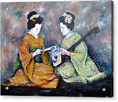 Geisha Music Lesson Acrylic Print