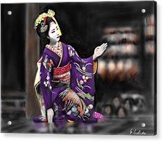 Geisha No.9 Acrylic Print by Yoshiyuki Uchida
