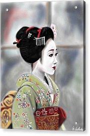 Geisha No.91 Revised Acrylic Print by Yoshiyuki Uchida