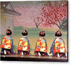 Geisha Row Acrylic Print