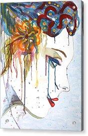 Geisha Soul Watercolor Painting Acrylic Print