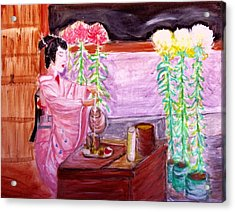 Geisha Tea Ceremony Acrylic Print