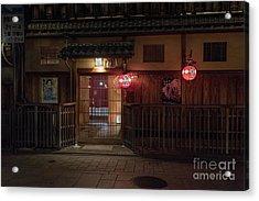 Geisha Tea House, Gion, Kyoto, Japan Acrylic Print