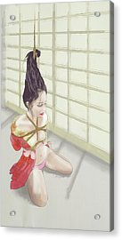 Acrylic Print featuring the mixed media Geisha by TortureLord Art