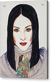 Geisha Walls Acrylic Print by Joseph Lawrence Vasile