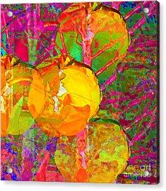 Acrylic Print featuring the digital art Gelbe Tulpen by Loko Suederdiek