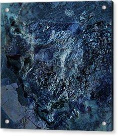 Gem 1 In Blue Acrylic Print by Sean Holmquist