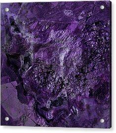 Gem 1 In Purple Acrylic Print by Sean Holmquist
