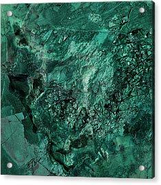 Gem 1 In Teal Acrylic Print by Sean Holmquist