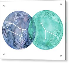 Gemini And Cancer Acrylic Print by Stephie Jones