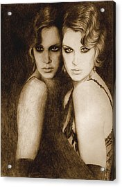 Acrylic Print featuring the painting Gemini by Ragen Mendenhall